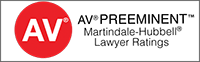 AV Preeminent | Martindale-Hubbeli Lawyer Ratings